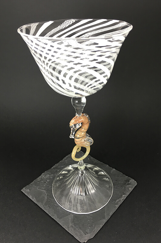 Coupe Hippocampe- Mad Verrerie D'Art | Frédéric Demoisson