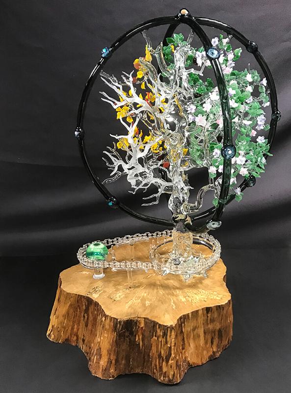 L'arbre mécanique du temps - Mad Verrerie D'Art | Frédéric Demoisson